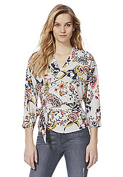 Only Floral Wrap Blouse - Multi