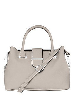 F&F Triple Compartment Grab Bag Dove Grey One Size