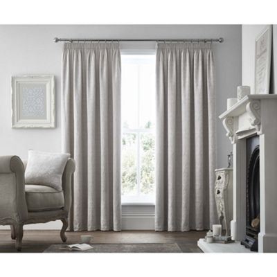 Curtina Voysey Silver Pencil Pleat Curtains - 66x72 Inches (168x183cm)