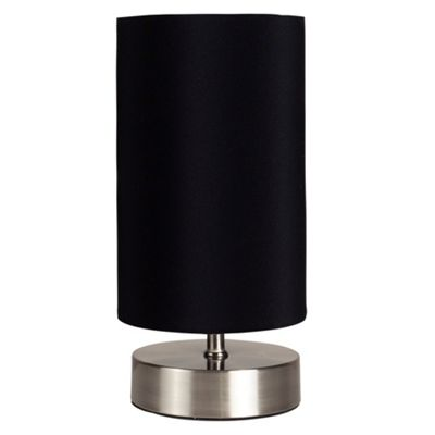 Francis Touch Table Lamp, Brushed Chrome & Black