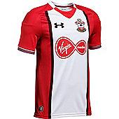 Under Armour Southampton FC 2017/18 Kids Home Short Sleeve Shirt White - YS - White
