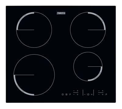 Zanussi ZEL6640FBV - 600mm 4 Zone Induction Hob Touch Control, Black