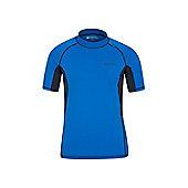 Mountain Warehouse Mens Rash Vest UPF50+ Sun Protection Factor 50+ Treatment - Electric blue