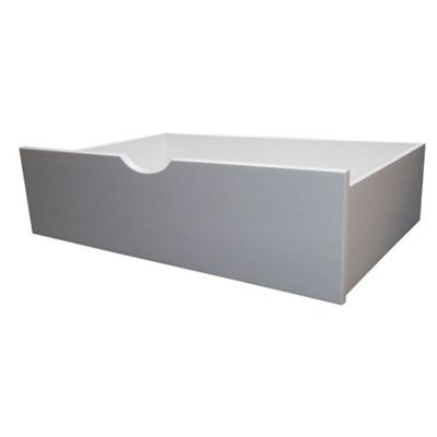 Happy Beds Wood Underbed Storage Drawers - White