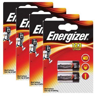 8 x Energizer CR123A CR123 123 3v Lithium Photo Battery