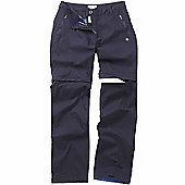 Craghoppers Ladies Kiwi Prostretch Convertible Trousers - Navy