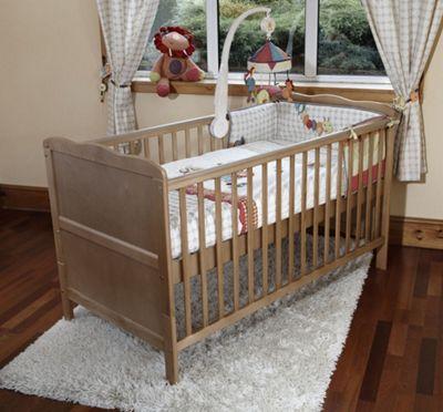Isabella - Cot Bed / Toddler Bed / Coolmax Pocket Sprung Mattress - Pine
