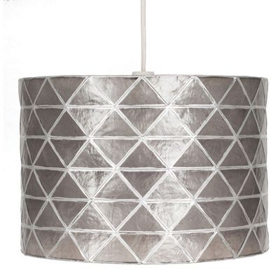 Diamond Smoke Grey Easy Fit Cylinder Pendant