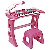 Carousel Pink Rock Star Keyboard and Stool