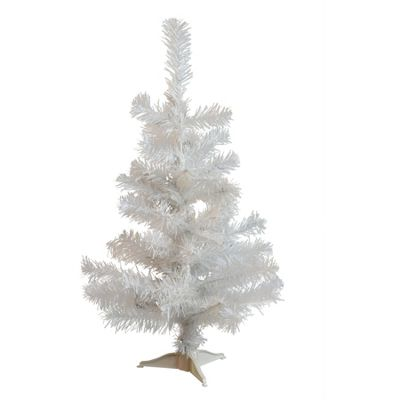 Harbour Housewares 2ft (60cm) Artificial White Christmas Tree With Stand