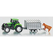 Deutz Fahr Agrotron 265 Tractor with Cattle Trailer