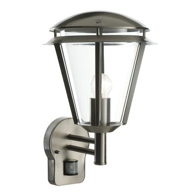 Inova PIR 1 Light Wall 60W Brushed Stainless Steel