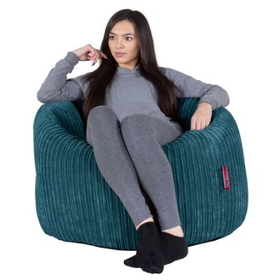 Lounge Pug® Cuddle Up Bean Bag Chair - Cord Aegean Blue