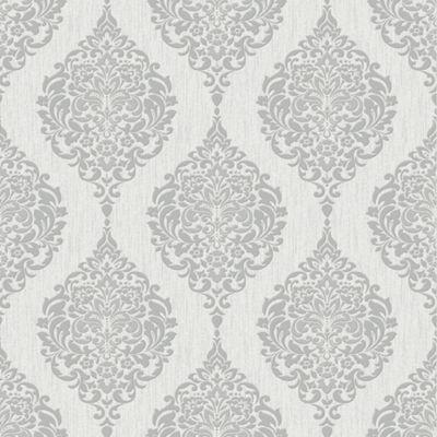 Damask Grey Wallpaper