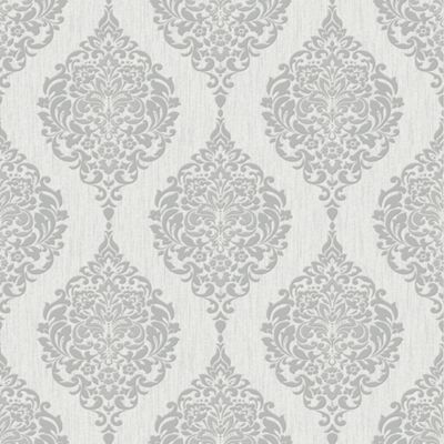 Superfresco luna damask grey wallpaper