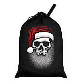 Muerto Christmas Santa Sack 46x60cm, Black