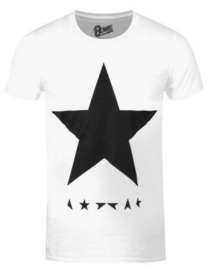 David Bowie Black Star White Men's T-shirt