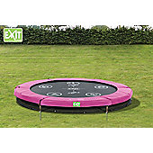 EXIT Twist Ground Trampoline (8ft) Pink/Grey