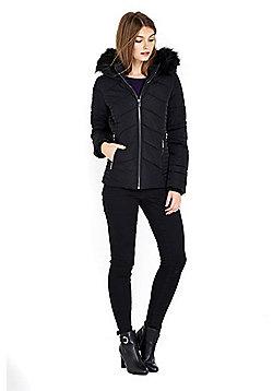 Wallis Petite Short Padded Jacket - Black