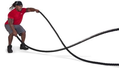 GoFit 40' Combat Rope with Training Manual
