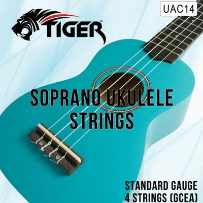 Tiger Soprano Ukulele Strings - Regular Tension Nylon Uke Strings