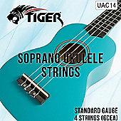 Tiger Soprano Ukulele Strings - Regular Tension Nylon Uke Strings