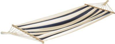 Harbour Housewares Large Cotton Garden / Camping Hammock - Blue / White Stripe