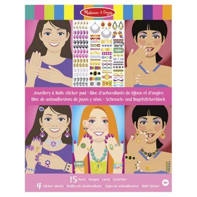 Jewellery And Nails Glitter Sticker Pad - Melissa and Doug