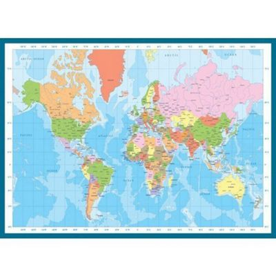 Modern Map Of The World Puzzle