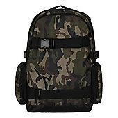 Camo Old School Board Green Backpack 36x46x16cm