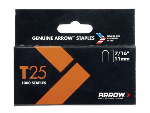 Arrow T25 Staples 11mm (7/16in) Box 5000