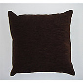 Rapport Plain Chenille Cushion Cover - Chocolate
