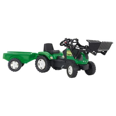 Green Tractor, Loader & Trailer Ride-On