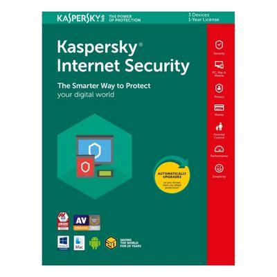 Kaspersky KIS2018-3D1YUK Internet Internet Security 2018 for 3 Devices