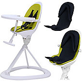 ickle bubba Orb+ Highchair (White/Green)
