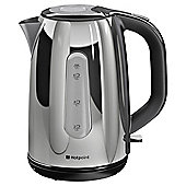 Hotpoint Stainless Steel Jug Kettle, 1.7L - Silver