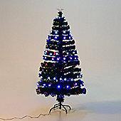 Homcom Fibre Optic Christmas Tree Star Lighting Colourful LED Lights w/ 180 Tips and 180 LED (5FT - 150CM)