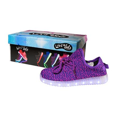 Light and Sole LED Purple Shoes - Size 4
