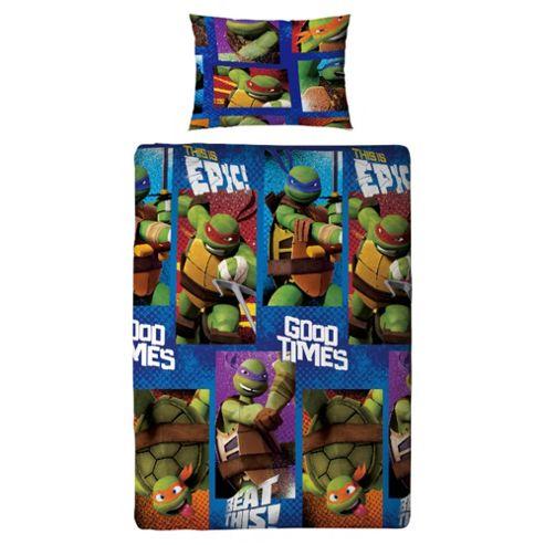 Teenage Mutant Ninja Turtles Single Bed Duvet Cover Set