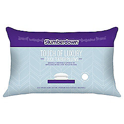 Slumberdown Touch of Luxury Duck Feather Pillow Pair