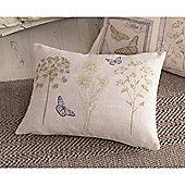Dreams & Drapes Botanique Green Boudoir Cushion Cover - 38x28cm