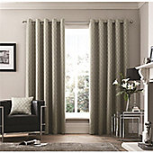 Curtina Islington Eyelet Curtains - Silver