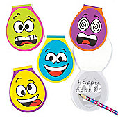 Funky Face Egg Memo Pads Set for Children - Easter/Spring Party Bag Filler or Gift for Kids (Pack of 6)