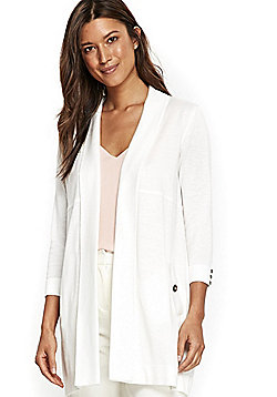 Wallis Open Front Long Line Cardigan - White