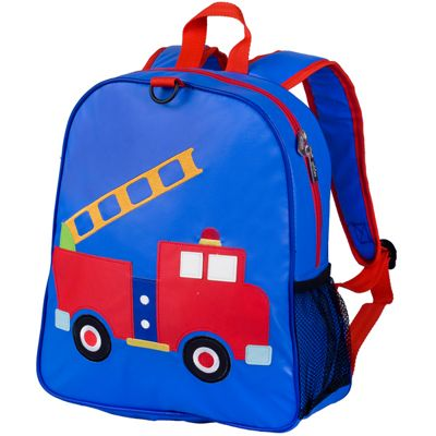 Toddler Backpacks, Kids Backpacks embroidered - Fire Engine