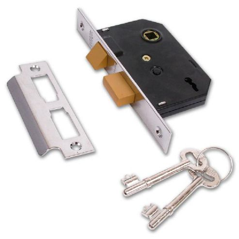 UNION 2295 2 Lever Sashlock - 64mm PL KD Visi - 64mm Polished Brass
