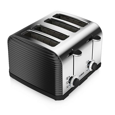 Tower T20008 4 Slice Linear Toaster - Black