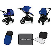 Ickle Bubba Stomp V3 AIO Travel System/Mosquito Net Blue (Black Chassis)