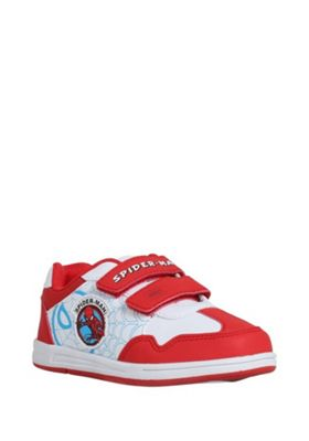 Marvel Spider-Man Riptape Trainers Red Child 9