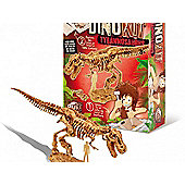 Dino Kit - T-Rex Childrens Science Experiments Brown - BUKI